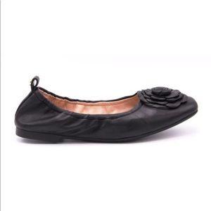 Taryn Rose Rosalyn Sheep Nappa Black Ballet Flats